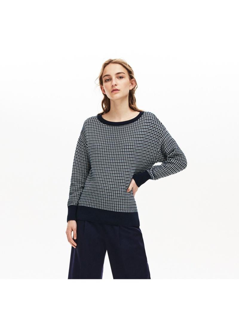 [Rakuten Fashion]チェックジャカードボートネックセーター LACOSTE ラコステ カットソー Tシャツ【送料無料】