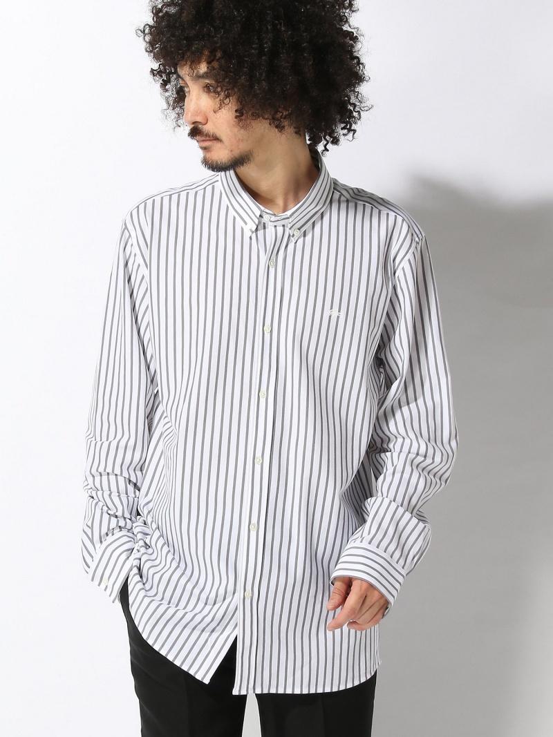 [Rakuten BRAND AVENUE](M)鹿の子ストライプシャツ(長袖) LACOSTE ラコステ シャツ/ブラウス【送料無料】
