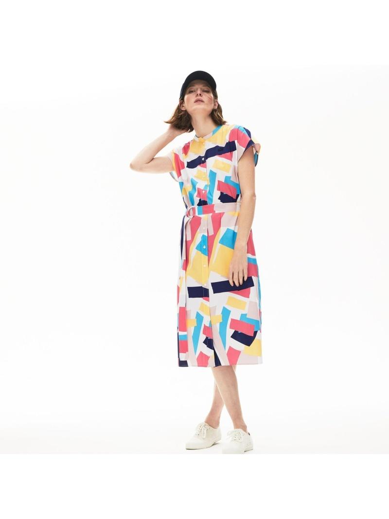 [Rakuten Fashion]【SALE/50%OFF】モダングラフィックデザインシャツドレス LACOSTE ラコステ ワンピース シャツワンピース【RBA_E】【送料無料】
