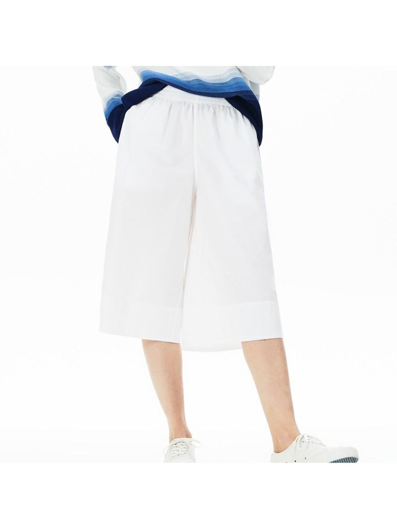 [Rakuten Fashion]【SALE/40%OFF】ライトコットンポプリンキュロットパンツ LACOSTE ラコステ パンツ/ジーンズ キュロット ホワイト【RBA_E】【送料無料】