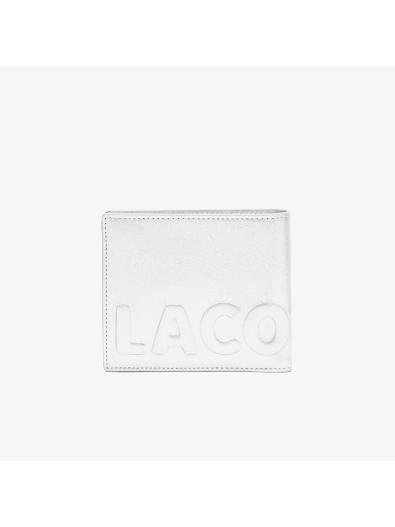 [Rakuten Fashion]LOGOMANIA2つ折りウォレット LACOSTE ラコステ 財布/小物 財布 シルバー ブラック【送料無料】