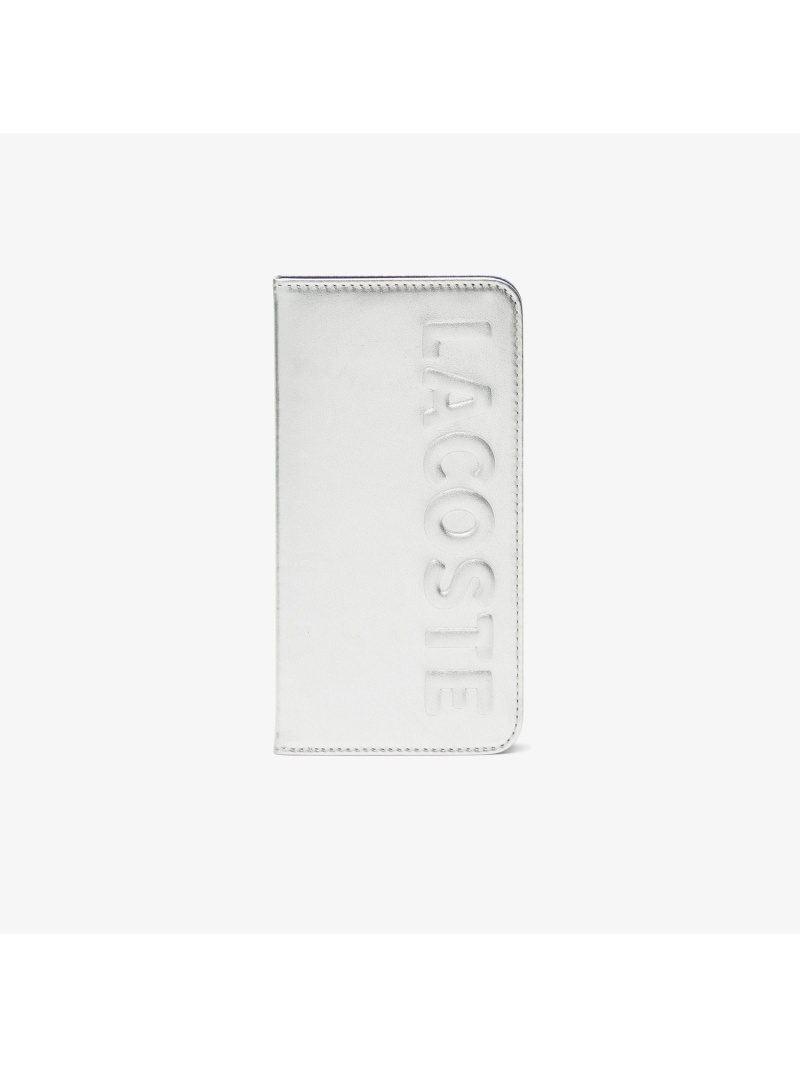 [Rakuten Fashion]LOGOMANIAiPhoneXRケース LACOSTE ラコステ ファッショングッズ 携帯ケース/アクセサリー シルバー ブラック【送料無料】