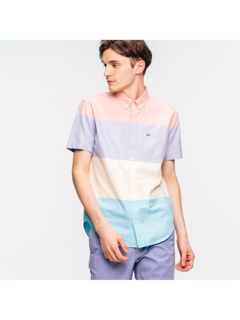 [Rakuten Fashion]【SALE/30%OFF】カラーブロックデザインショートスリーブボタンダウンシャツ LACOSTE ラコステ シャツ/ブラウス 長袖シャツ【RBA_E】【送料無料】