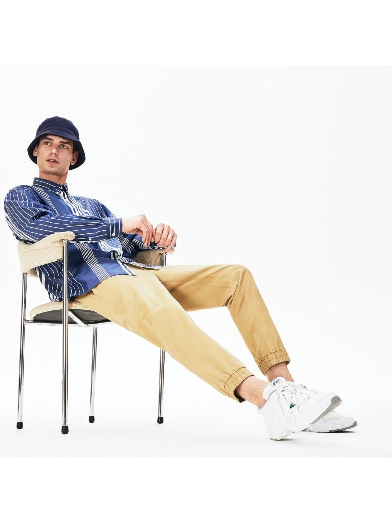 [Rakuten Fashion]【SALE/40%OFF】シャーリングチノパンツ LACOSTE ラコステ パンツ/ジーンズ フルレングス ベージュ ブラック カーキ【RBA_E】【送料無料】