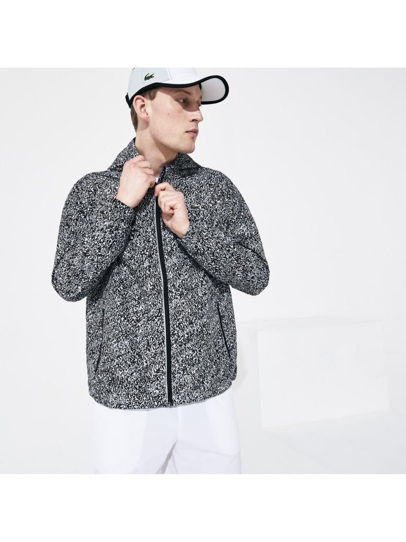 [Rakuten Fashion]【SALE/30%OFF】プリントフードジップジャケット LACOSTE ラコステ カットソー パーカー ブラック【RBA_E】【送料無料】