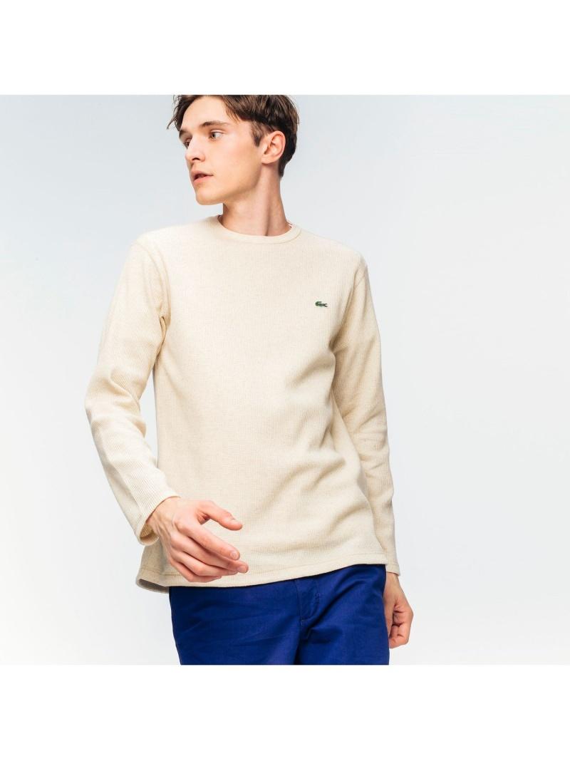 [Rakuten Fashion]ワッフルクルーネックロングTshirt LACOSTE ラコステ カットソー Tシャツ グリーン ブラック ネイビー【送料無料】