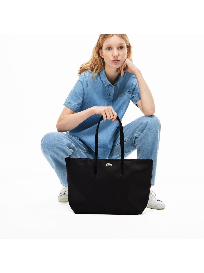[Rakuten Fashion]L.12.12 CONCEPT ラージサイズトートバッグ LACOSTE ラコステ バッグ トートバッグ ブラック ホワイト【送料無料】
