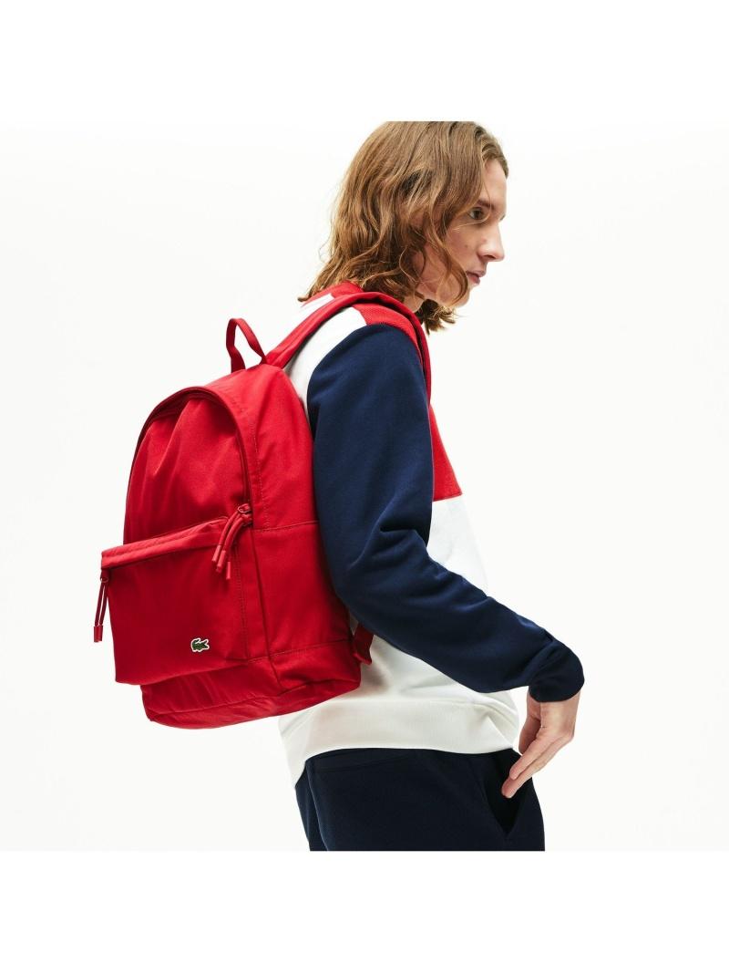 [Rakuten Fashion]NEOCROCデイパック LACOSTE ラコステ バッグ リュック/バックパック レッド ブラック ホワイト【送料無料】