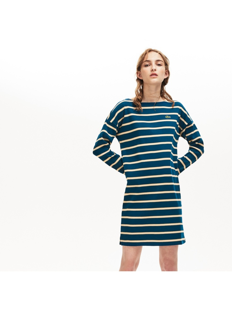[Rakuten Fashion]【SALE/30%OFF】マリンボーダーワンピース LACOSTE ラコステ ワンピース シャツワンピース【RBA_E】【送料無料】
