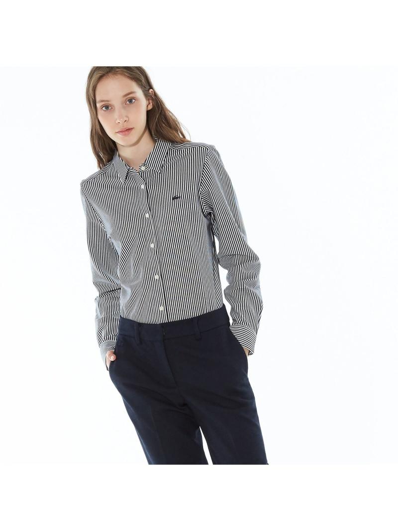 [Rakuten BRAND AVENUE]ストライプカットソーボタンシャツ(長袖) LACOSTE ラコステ シャツ/ブラウス【送料無料】
