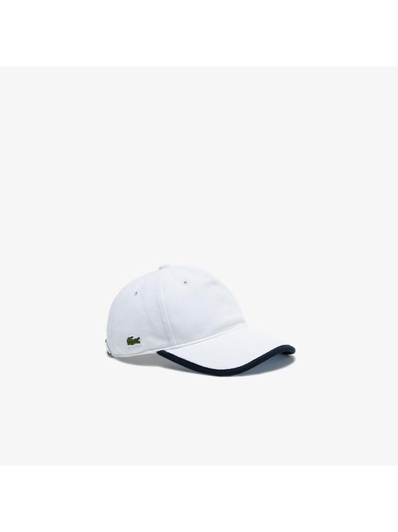 [Rakuten Fashion]トリプルカラー鹿の子地キャップ LACOSTE ラコステ 帽子/ヘア小物 キャップ ホワイト ネイビー【送料無料】