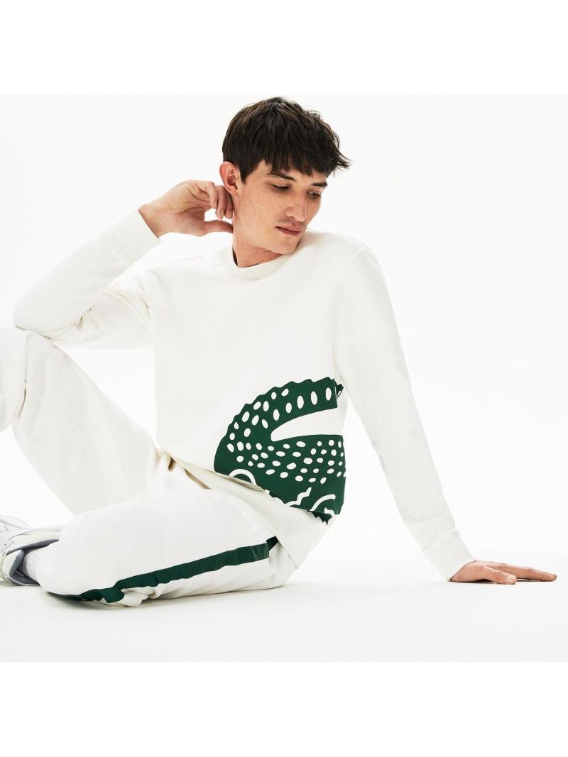 [Rakuten Fashion]オーバーサイズロゴプリントクルーネックスウェット LACOSTE ラコステ カットソー スウェット グリーン ネイビー【送料無料】