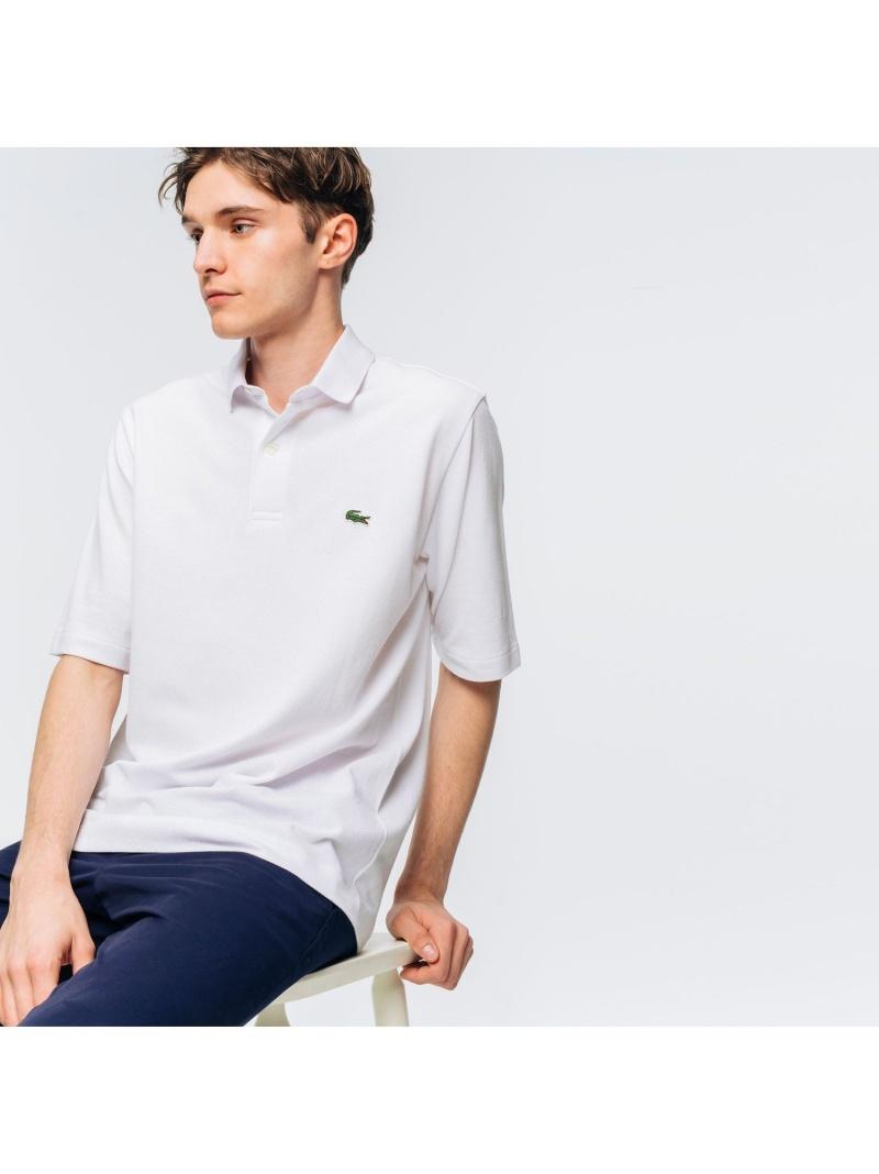 [Rakuten Fashion]ボディーサイズBIGポロ LACOSTE ラコステ カットソー ポロシャツ ホワイト ブラック ネイビー【送料無料】