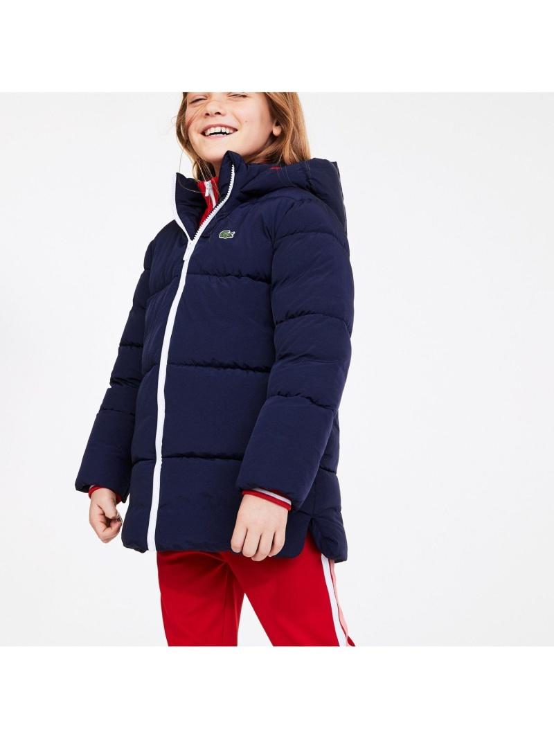 [Rakuten Fashion]GIRLSフードジャケット LACOSTE ラコステ コート/ジャケット ダウンジャケット ネイビー【送料無料】
