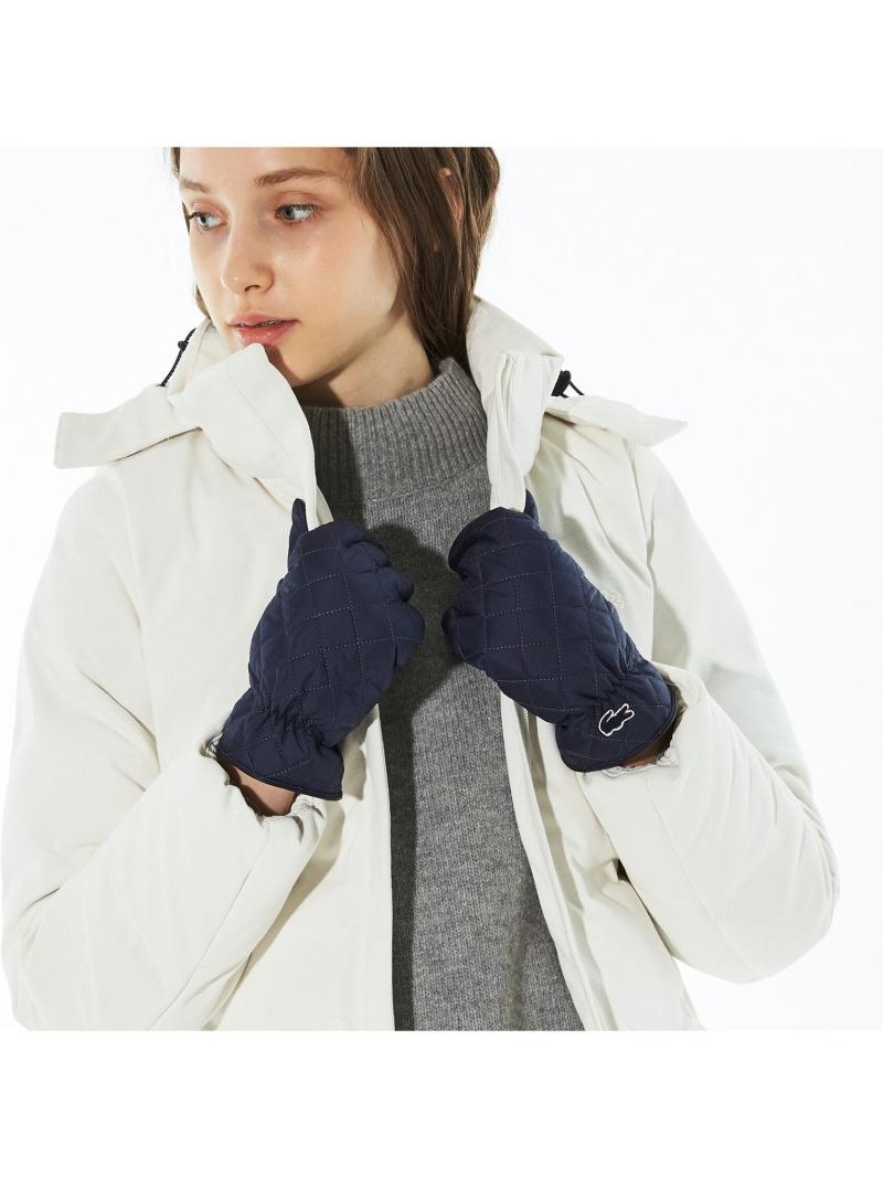 [Rakuten Fashion]キルティングダウングローブ LACOSTE ラコステ ファッショングッズ 手袋 ネイビー ブラック【送料無料】