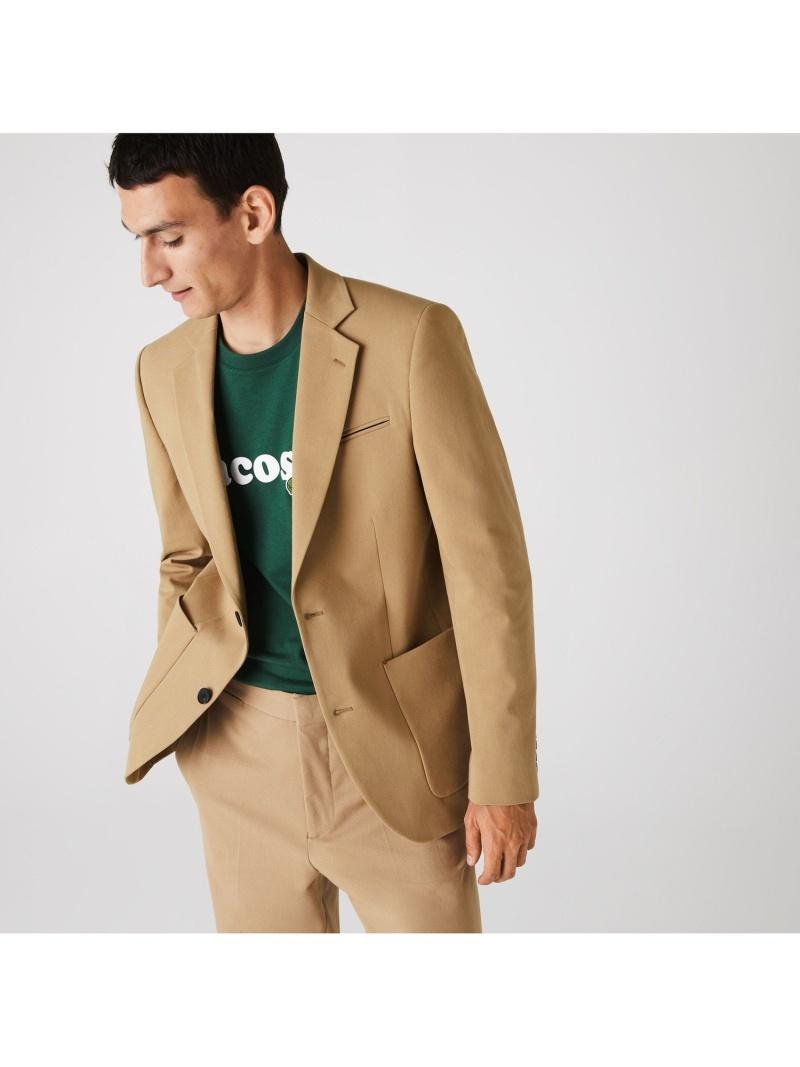 [Rakuten Fashion]ストレートフィットコットンブレザージャケット LACOSTE ラコステ コート/ジャケット テーラードジャケット ベージュ【送料無料】