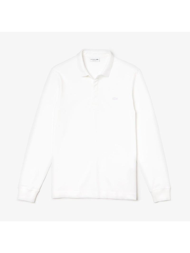 [Rakuten Fashion]ロングスリーブソリッドポロシャツ LACOSTE ラコステ カットソー ポロシャツ ホワイト ブラック ネイビー【送料無料】
