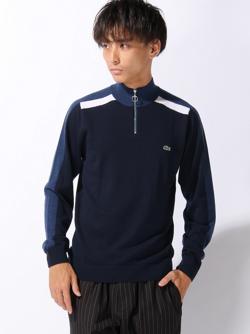[Rakuten BRAND AVENUE]【SALE/40%OFF】(M)『Made in France』ジッパーネック セーター LACOSTE ラコステ ニット【RBA_S】【RBA_E】【送料無料】