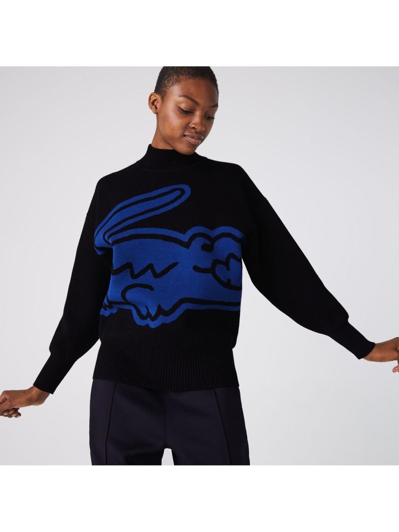 [Rakuten Fashion]LACOSTE L!VE ビッグロゴタートルネックセーター LACOSTE ラコステ ニット 長袖ニット【送料無料】