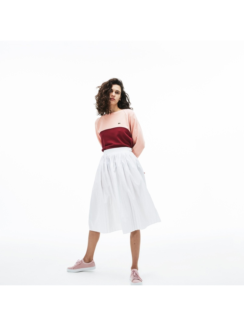 [Rakuten Fashion]【SALE/50%OFF】Aラインプリーツスカート LACOSTE ラコステ スカート ロングスカート ホワイト ネイビー【RBA_E】【送料無料】