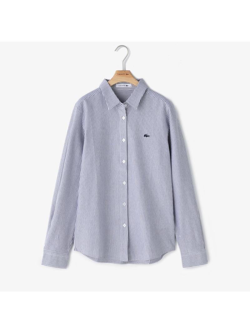 [Rakuten BRAND AVENUE]ジャカードボストライプボタンシャツ LACOSTE ラコステ シャツ/ブラウス【送料無料】