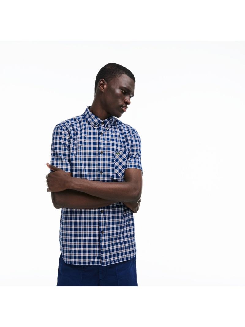 [Rakuten BRAND AVENUE]チェックボタンダウンシャツ LACOSTE ラコステ シャツ/ブラウス【送料無料】