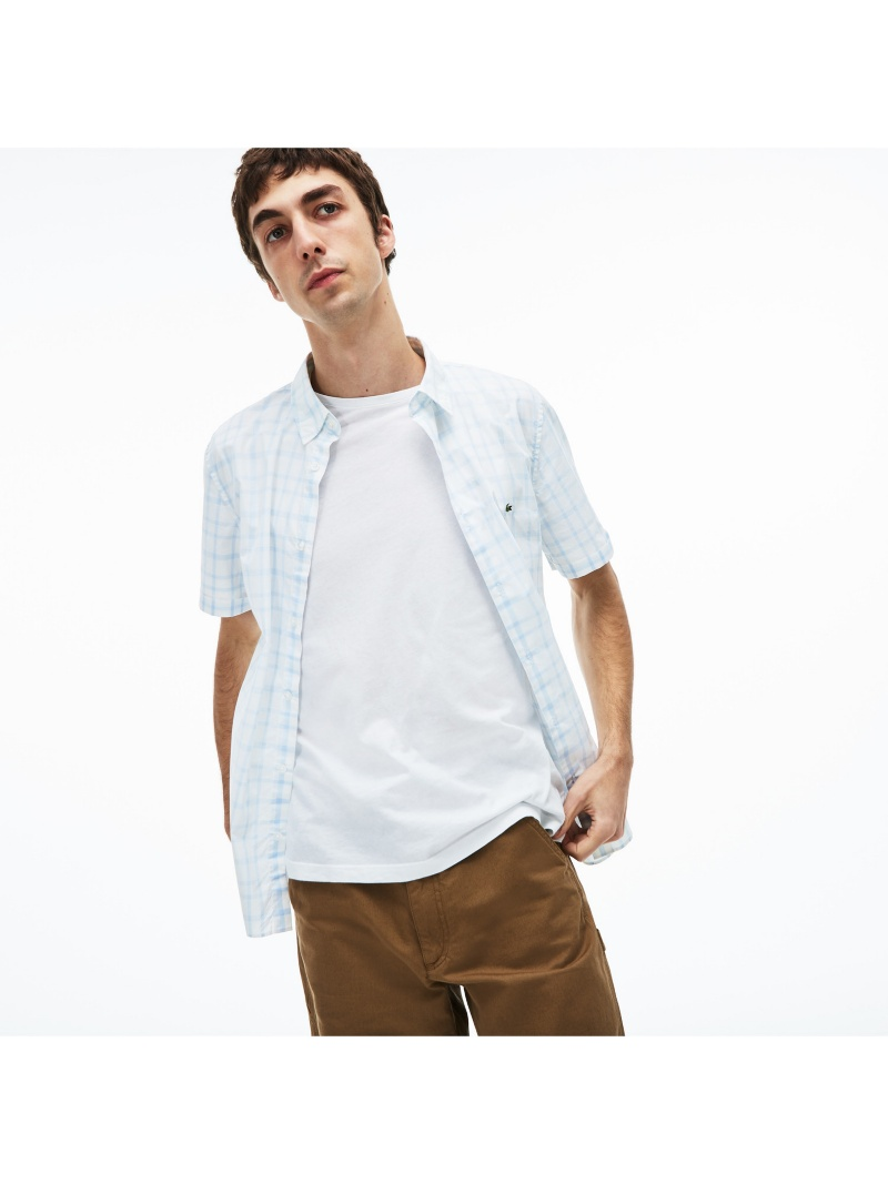 [Rakuten Fashion]【SALE/30%OFF】スリーブロールアップチェックシャツ LACOSTE ラコステ シャツ/ブラウス 長袖シャツ【RBA_E】【送料無料】