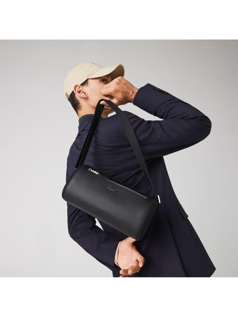 [Rakuten Fashion]CHANTACOスモールボストンショルダー LACOSTE ラコステ バッグ ボストンバッグ ブラック【送料無料】