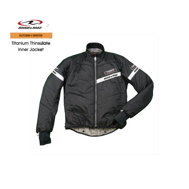 ROUGH&ROAD チタンシンサレート インナージャケット ブラック S RR7983 バイク インナージャケット ラフ&ロード オプション 別売り 防寒 防風