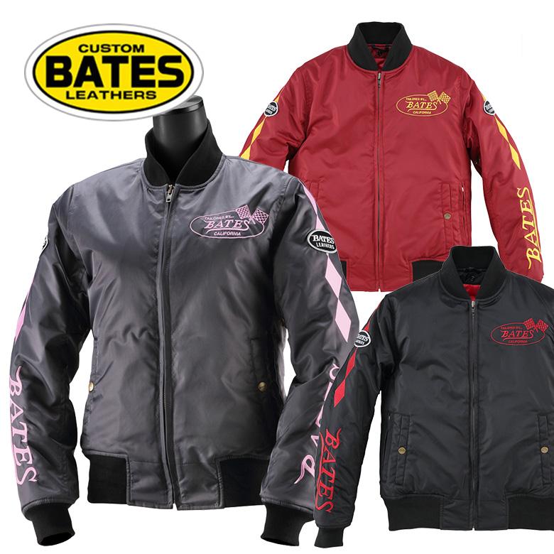 レディースバイク用品 ジャケット バイク用 防風 中綿 ネックウォーマー ダイヤ MA-1 ベイツ BJL-N1772S メーカー取寄