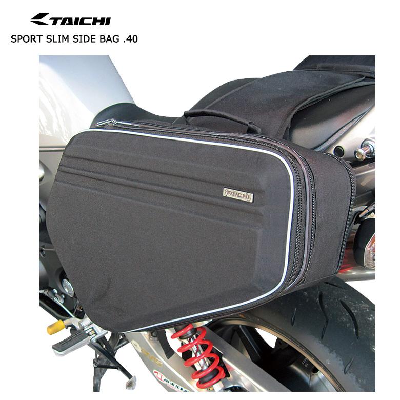 バイク用品 スポーツ スリムサイドバッグ.40 バイク 用品 収納 ライディング 黒 RS TAICHI(アールエスタイチ) RSB306 取寄品