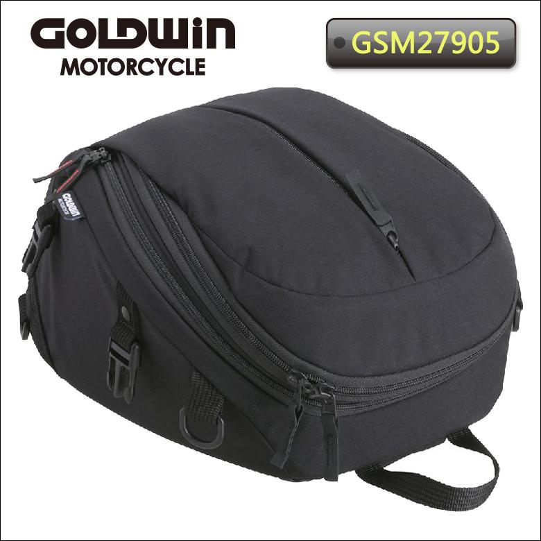 バイクバッグ 人気おすすめ コンパクト 2WAY ワンショルダー 黒 GOLDWIN(ゴールドウィン)X-OVERシートバッグ17 GSM27905 取寄品