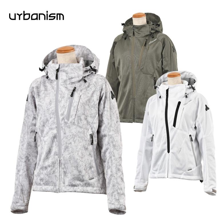 バイクジャケット レディース人気 おすすめ 大きいサイズ パーカー 白 グレー カモ 春夏Urbanism(アーバニズム)フードメッシュジャケット WOMENS UNJ-079W 取寄品
