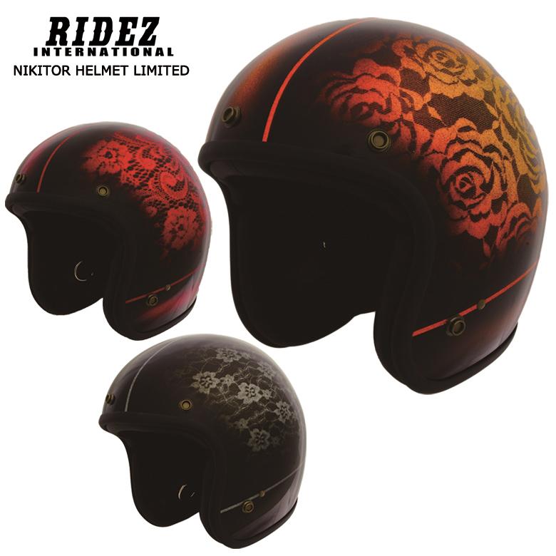 バイク用品 NIKITOR HELMET LIMITED バイク 用品 ヘルメット レース 黒 赤 レディース RIDEZ(ライズ) NHL9-23 取寄品