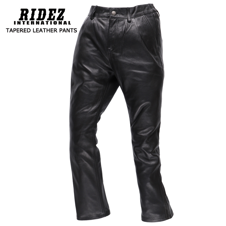 バイク用品 TAPERED LEATHER PANTS バイク 用品 パンツ レザー オールシーズン 黒 レディース SUGAR RIDEZ(シュガーライズ) SLP01 取寄品