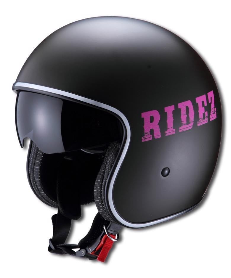 バイク用品 ヘルメット ヘルメットライズ ARヘルメット ヘクサクロームBK マゼンダ #フリーRIDEZ 4527625085688 取寄品