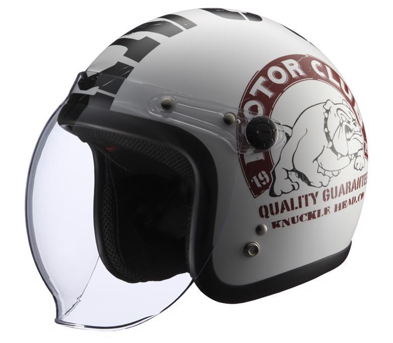 バイク用品 ヘルメット ヘルメットライズ KNUCKLE HEAD BULL2 WH BK (57-60cm)RIDEZ 4527625092570 取寄品