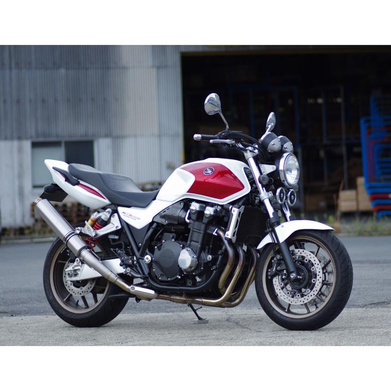 セール バイク用品 マフラー 4ストフルエキゾーストマフラーマーベリック スリップオン政府認証ソリッド CB1300SF SB 03-16MAVERICK MV102SOA 取寄品