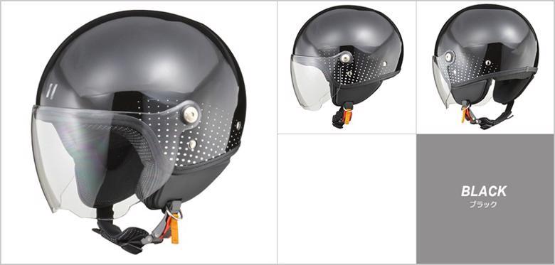バイク用品 ヘルメット ヘルメットリード PALIO シールド付ジェット #レディースフリー ブラックLEAD 4952652150380 取寄品