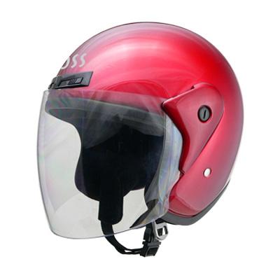 ヘルメット バイク リード工業 CROSS CR-720 ジェットヘルメット キャンディーレッド CR-720
