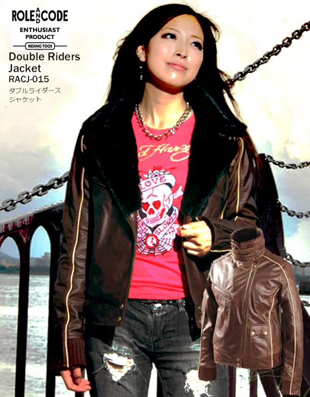 バイク ジャケット レディース ROLE AND CODE ダブルライダースジャケット RACJ-015 【送料無料】