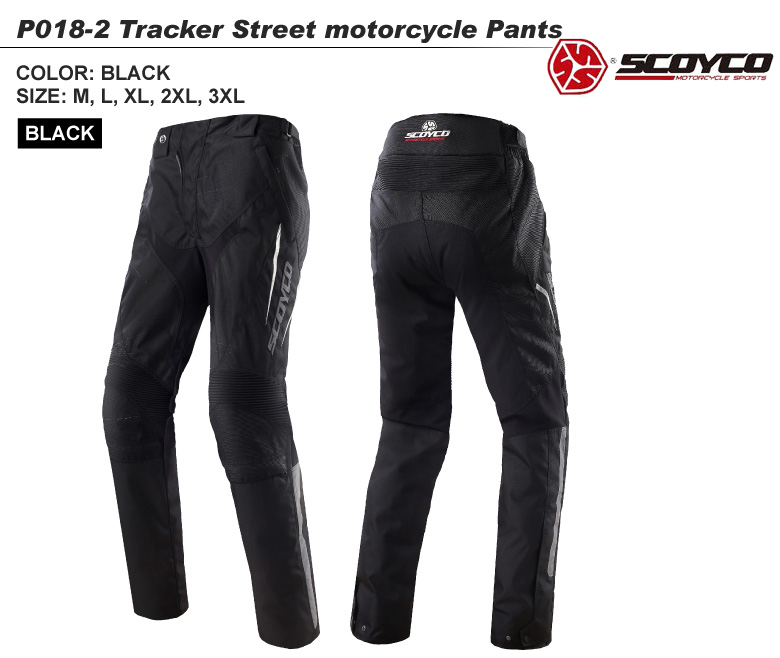 【送料無料】バイク用品 TRACKERウィンターライディングパンツ 3シーズン対応 ツーリング ブラック ユニセックス SCOYCO(スコイコ) P018-2