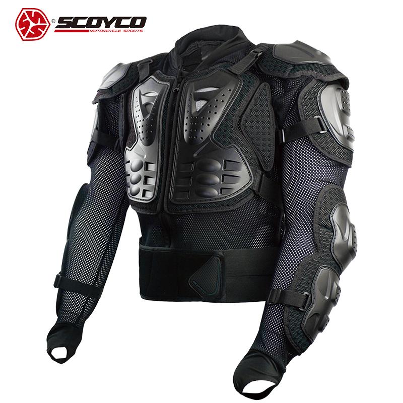 【送料無料】バイク用品 TITANボディアーマージャケット プロテクター全部入り ツーリング ブラック ユニセックス SCOYCO(スコイコ) AM02-2