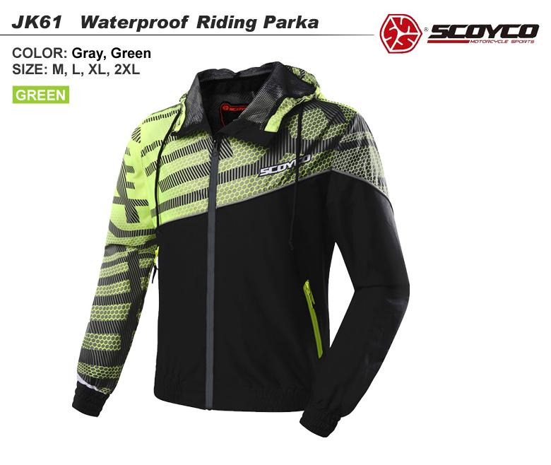 【送料無料】バイク用品 Wizzardライディングパーカー カジュアルデザイン ツーリング グレー ユニセックス SCOYCO(スコイコ) JK61