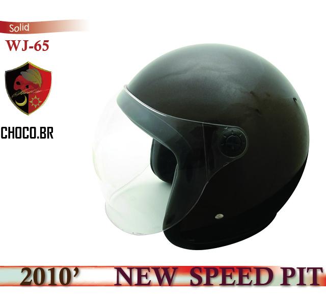 【TNK工業】【SPEEDPIT】ヘルメット WJ-65 Solid【チョコブラウン】