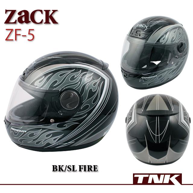 【TNK工業】【SPEEDPIT】ヘルメット ZF-5【BK/SI ファイアー】
