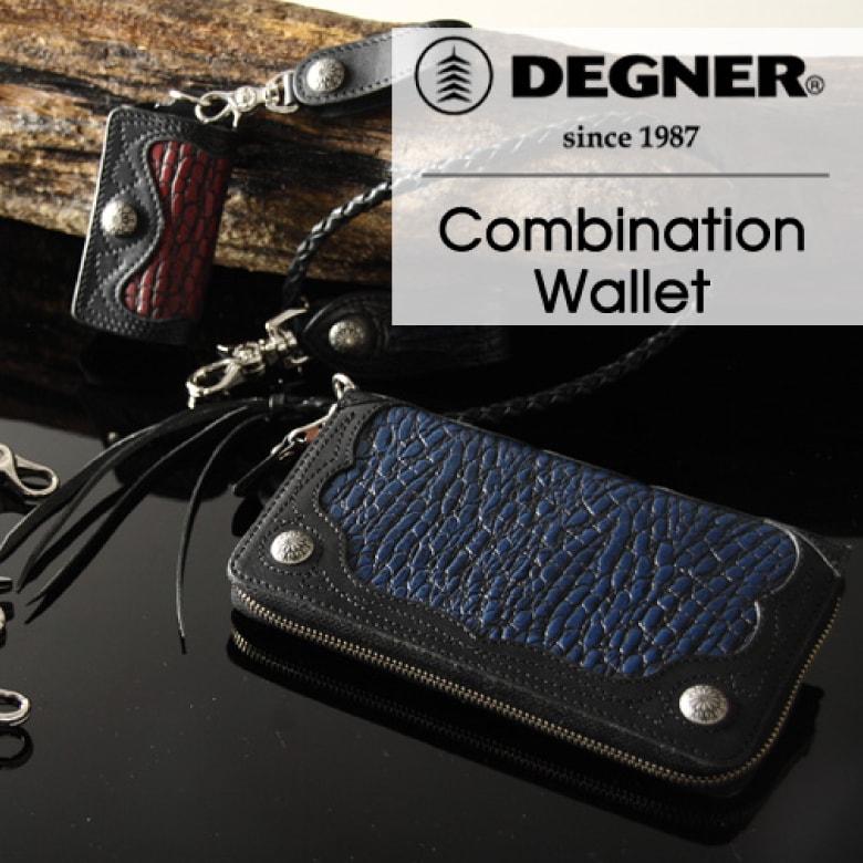 バイク 財布 レザー DEGNER Leather Zip Wallet レザージップウォレット W-56CR バイク 財布 ウォレット 本革 レザー デグナー DEGNER 【送料無料】