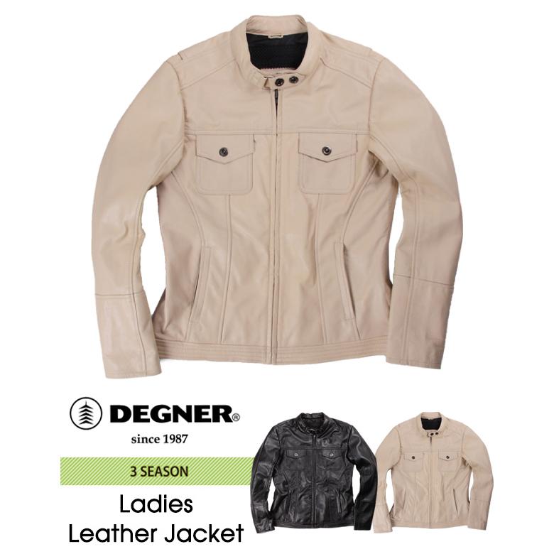 バイク レディース ジャケット DEGNER レディースレザージャケット FR17SJ-4 バイク レディース 本革 ライダース デグナー 【送料無料】