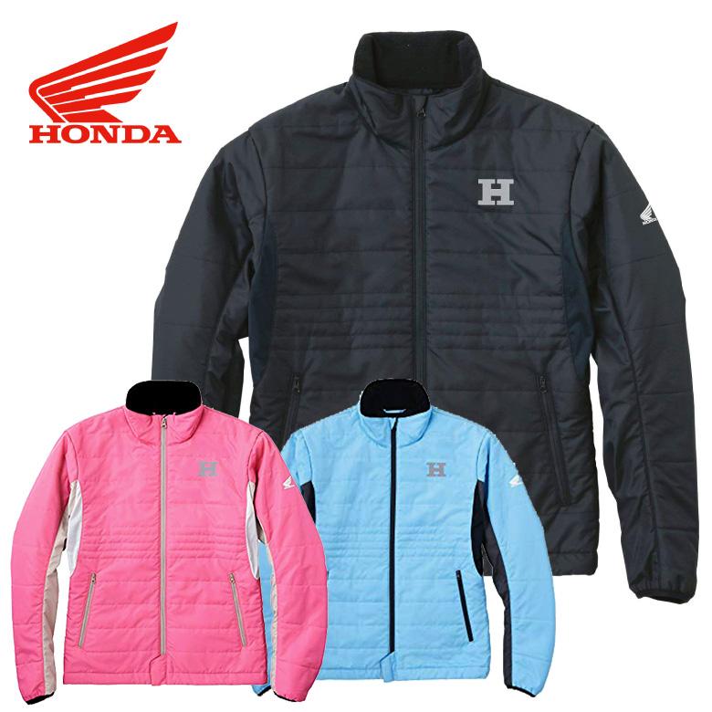 伸縮性 保温 中綿入り レディースバイク ジャケット HONDA アクティブパディングジャケット 0SYTH-X5M