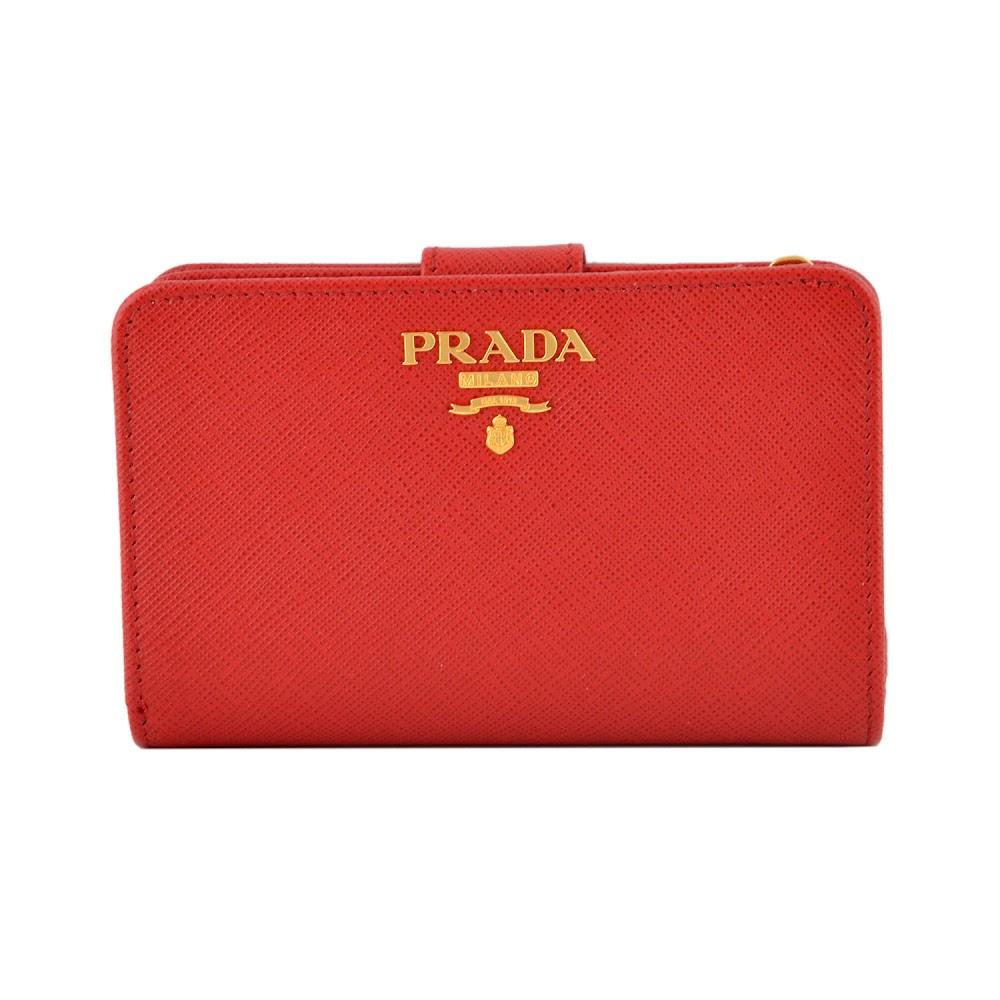 プラダ PRADA 1ML225 QWA 68Z サフィアーノレザー 二つ折り財布 母の日 プレゼント
